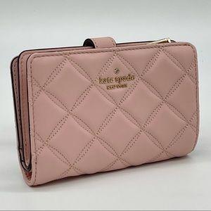 Kate Spade Medium Compact Bifold Wallet Rose Smoke